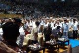 Prabowo bersama relawan gelar syukuran klaim kemenangan