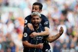 Panas, gol tunggal Aguero bantu Manchester City geser Liverpool