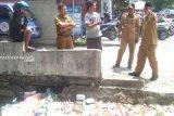 Wali Kota Palu tinjau drainase depan SMP 3 Palu
