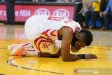 Rockets kalah lagi lawan Warriors, mata Harden berdarah