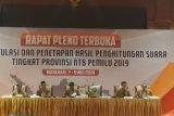 Rekapitulasi suara pemilu 2019 tingkat provinsi NTB diperpanjang