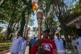 Obor Paskah Nasional dikirab di Kota Palu