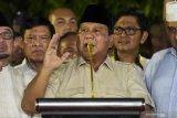 Prabowo Subianto minta pendukungnya akhiri aksi massa dan kembali ke rumah