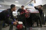 Mahasiswa UMM ciptakan mesin pengayak pasir