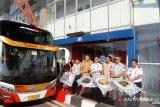 Kemenhub resmi meluncurkan operasional perdana bus AKAP Tol Trans Jawa