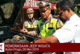 VIDEO: Polres-Dishub Kulon Progo periksa Jeep wisata Kalibiru