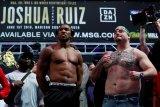 Andy Ruiz manfaatkan berat badan untuk tumbangkan Joshua