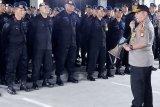 Kapolda semangati personelnya yang BKO pengamanan KPU