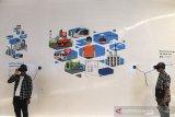 Pengunjung menggunakan teknologi VR saat berkunjung di Bandung Planning Gallery di Bandung, Jawa Barat, Rabu (19/6/2019). Bandung Planning Gallery merupakan obyek wisata edukasi baru dan canggih dengan tekhnologi VR yang menerangkan perkembangan pembangunan kota Bandung dari masa ke masa. ANTARA JABAR/M Agung Rajasa/agr