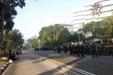 Pagi ini,  belum terlihat ada pergerakan massa di depan Gedung MK