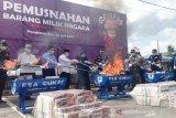 Bea Cukai Pangkalan Bun musnahkan 1,5 juta batang rokok ilegal