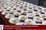 VIDEO: Penyajian 5.500 porsi Bakmi Godog khas Gunung Kidul