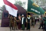 Bayar nazar, anggota Banser ini jalan kaki dari Sumsel temui Presiden Jokowi