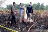 Polisi selidiki penyebab terbakarnya lahan di Palangka Raya