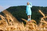 Patung kayu Ibu negara AS Melania Trump dipamerkan di Slovenia