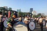 Marching Band Akpol dan Akmil iringi peserta jalan sehat