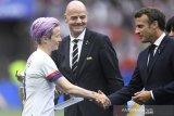 Bos FIFA dan Presiden Prancis dicemooh dalam seremonial juara Piala Dunia 2019