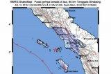 Gempa magnitudo 6,4 di Sinabang dirasakan sampai ke Medan