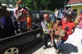 Simulasi penyelamatan warga saat erupsi gunung Merapi