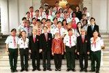 Pramuka Indonesia dapat penghargaan dari Presiden Singapura