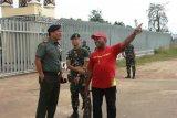 Pejabat Kemhan RI kunjungi Satgas Pamtas Yonif 328/DGH
