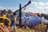 Di Lombok, Kemenhub turunkan personel bantu evakuasi helikopter jatuh