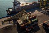 Crane roboh terbentur kapal peti kemas