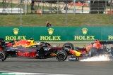 Verstappen beberkan kondisi mobil di finis setelah diseruduk Vettel