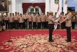 Presiden Joko Widodo lepas kontingen Pramuka Indonesia ke Jambore Kepanduan Dunia