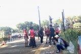 Suporter laga final Piala Indonesia kotori Gelora Bung Karno