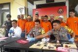 Polres Bangka Tengah tangkap sebelas pengedar narkoba