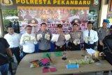 Polresta Pekanbaru sita 12,4 kilogram sabu-sabu asal Malaysia