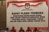 KPU NTT gelar pleno penetapan caleg dan kursi DPRD terpilih