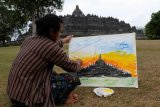 Melukis candi Borobudur
