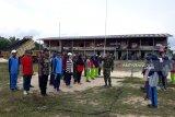Prajurit Yonif Raider 600 MDG latih siswa perbatasan jelang HUT RI
