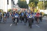 Gubernur Sumsel bersepeda bersama  keliling Palembang