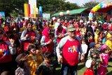 Peringati HAN, 1.500 anak Parigi Moutong  senam pagi bersama bupati