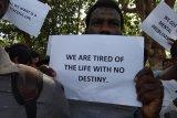 Pencari suaka di Tanjungpinang demonstrasi tuntut pertanggungjawaban UNHCR