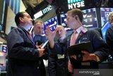 Saham-saham Wall Street berakhir menguat ditopang langkah ECB dan data ekonomi