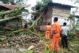 Angin kencang porak porandakan rumah warga Padang