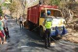 Polsek Ponjong menyelidiki kecelakaan truk pembawa puluhan pedagang
