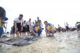 Ratusan Polisi bersihkan Pantai Payung