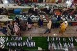Sejumlah pengunjung berbelanja ikan pada hari terakhir tradisi meugang menyambut Idul Adha 1440 Hijriyah di Pasar Tradisional Peunayung, Banda Aceh, Aceh, Sabtu (10/8/2019). Harga berbagai jenis ikan untuk kebutuhan Idul Adha 1440 Hijriyah di daerah itu naik 30 hingga 50 persen menurut jenisnya akibat persediaan berkurang, sedangkan permintaan meningkat. (Antara Aceh/Ampelsa)