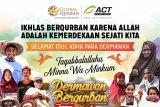 ACT: jutaan penerima manfaat kurban di Indonesia dan dunia