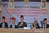 KPU Boyolali usulkan pelantikan calon terpilih DPRD