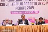 KPUD menetapkan 65 anggota DPRD NTB terpilih Pemilu 2019