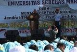 Isi kuliah umum, Menhan ajak mahasiswa UNS jaga Pancasila