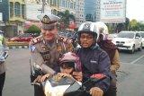 Sambut HUT Kemerdekaan RI, Satlantas Polresta Bandar Lampung gelar kampanye keselamatan berlalu lintas