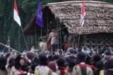 Presiden di rumah adat Papua Barat
