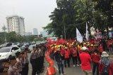Massa buruh demo tolak revisi UU Ketenagakerjaan nomor 13 tahun 2003